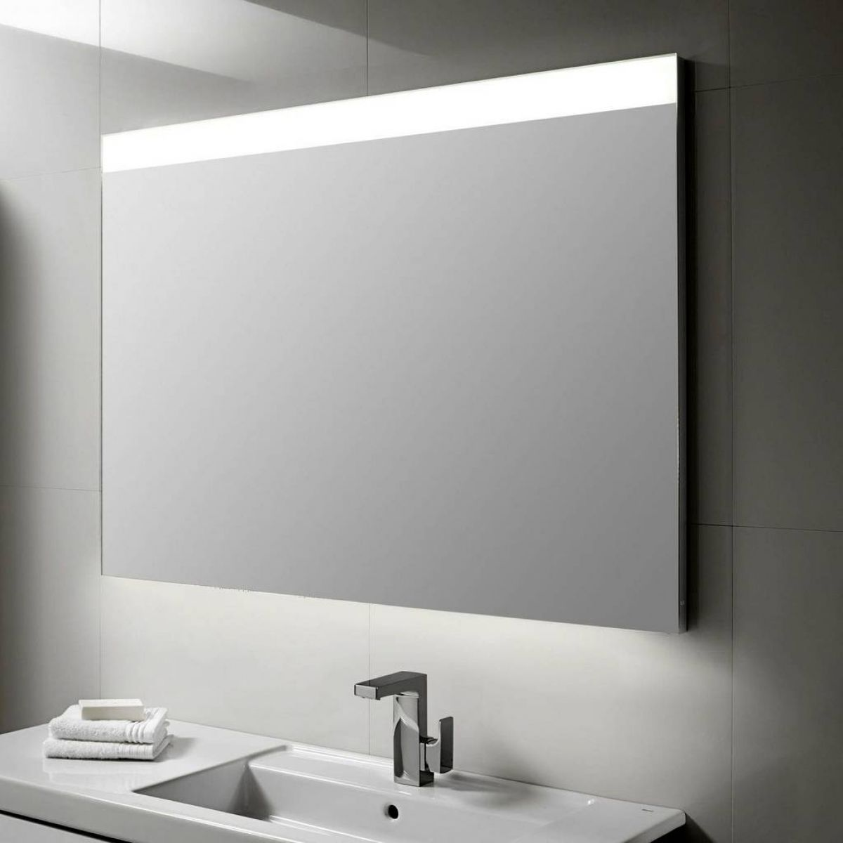illuminated bathroom mirrors roca prisma led illuminated mirror uk bathrooms 13216