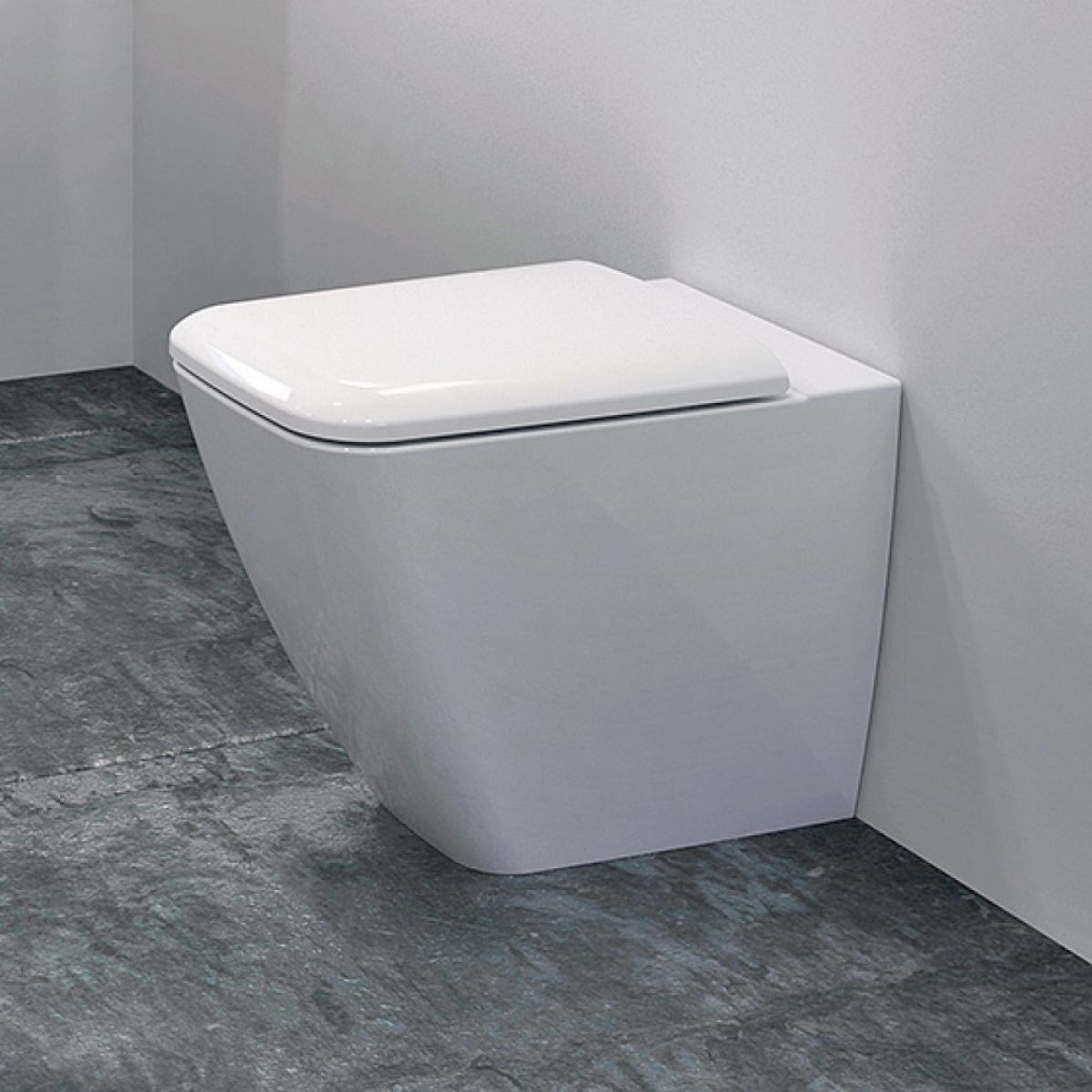 Geberit icon square back to wall rimfree toilet uk bathrooms for Gerberit toilet