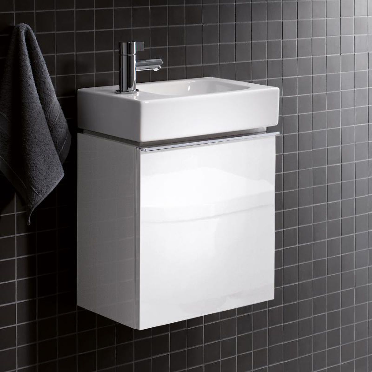geberit icon small vanity unit with one door uk bathrooms