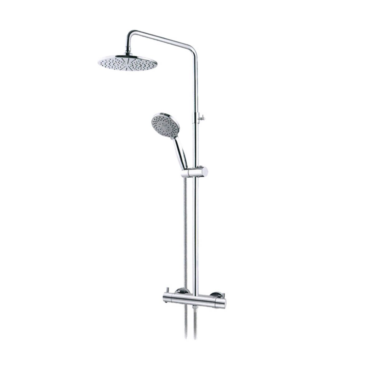 Abacus Emotion Exposed Shower Kit With Overhead Handheld