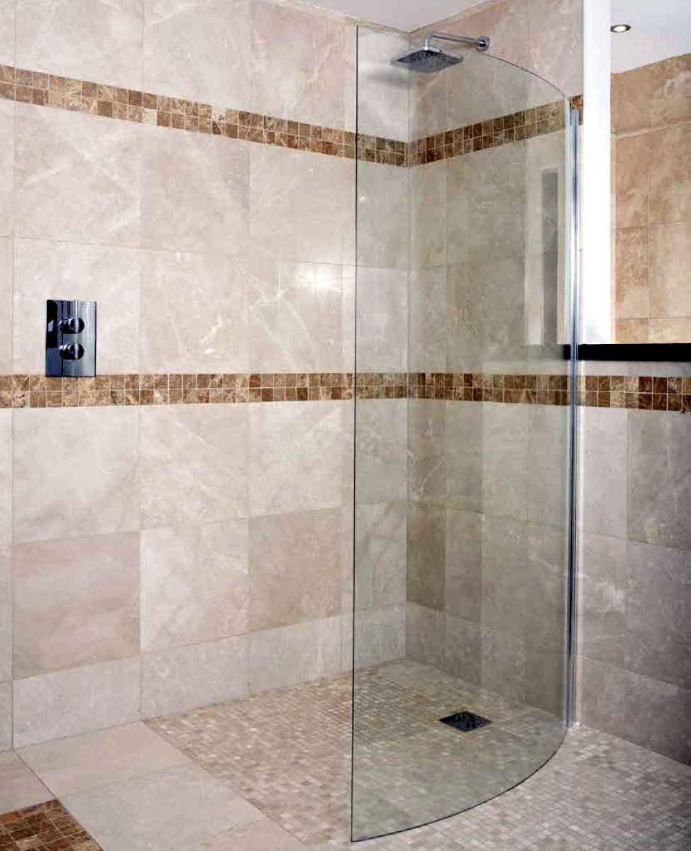 Abacus E Series Walk In Curved Shower Screen : UK Bathrooms