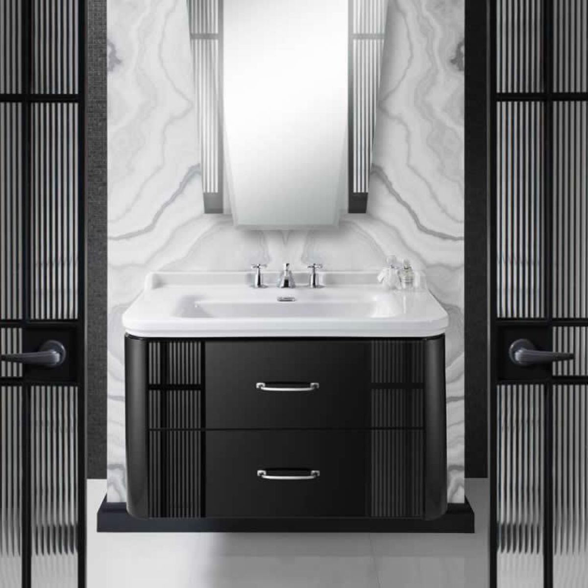 Bauhaus Waldorf Vanity Unit, Wall Hung : UK Bathrooms