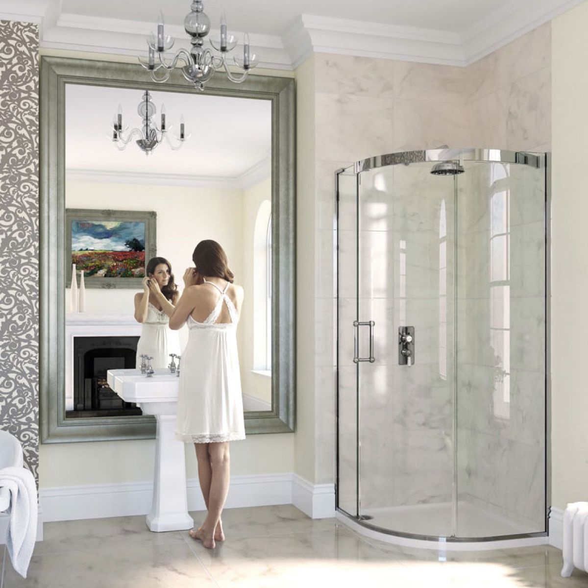 Matki Eauzone Plus Curved Corner Shower Enclosure : UK Bathrooms