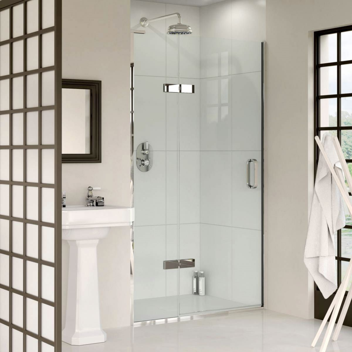 Matki Eauzone Plus Hinged Shower Door with Hinge Panel For Recess