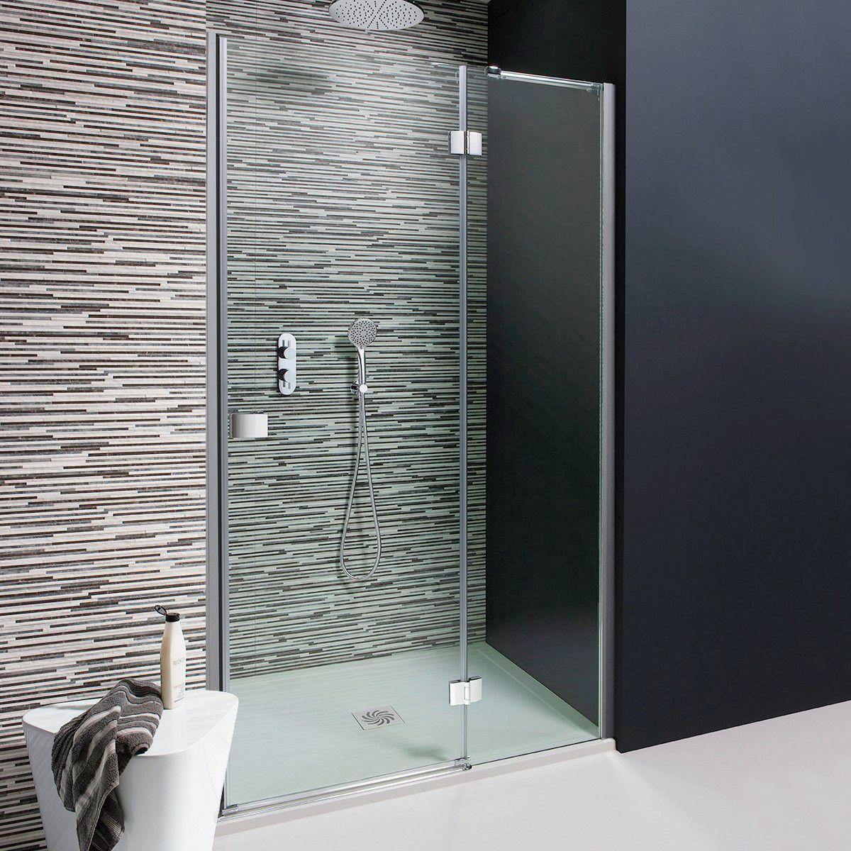 Simpsons Design Hinged Shower Door With Inline Panel Uk