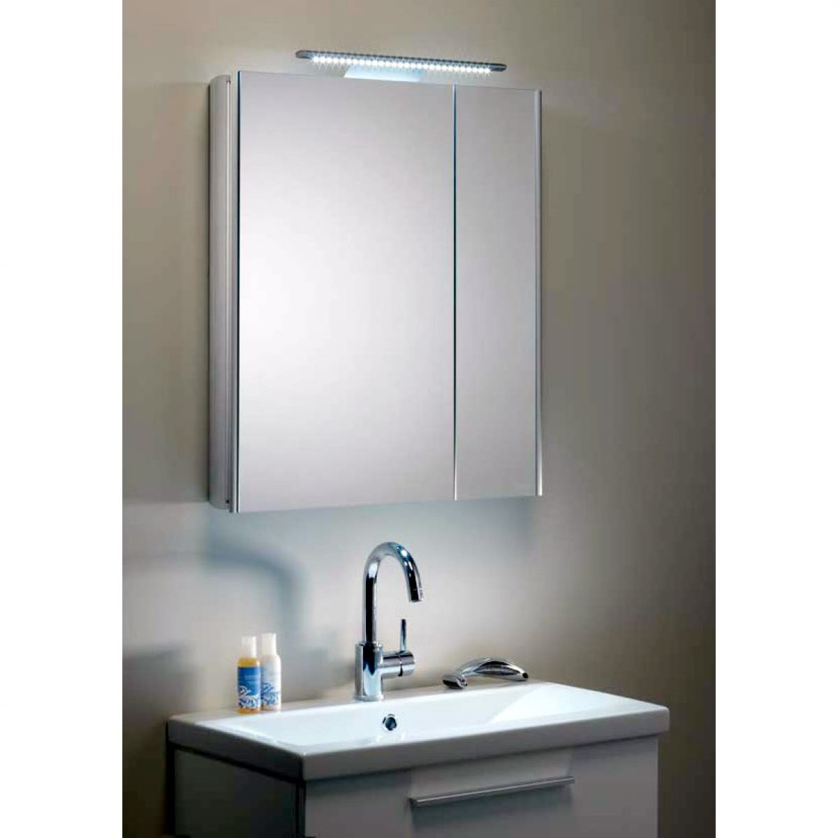 Roper rhodes ascension refine slimline split door cabinet for Bathroom furniture