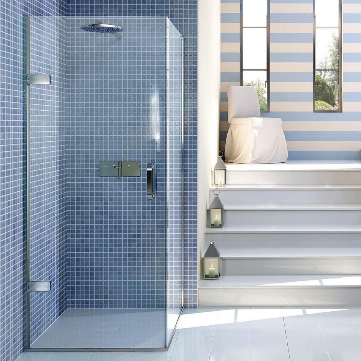 Matki Eauzone Plus Hinged Shower Door for Corner : UK Bathrooms