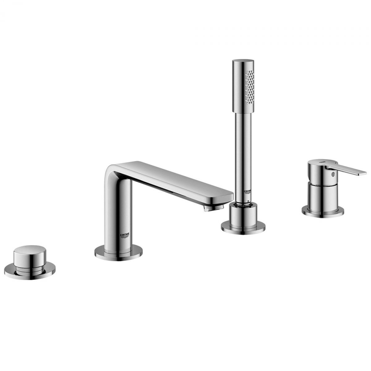 Grohe Lineare 4-hole Bath Mixer with Shower Handset : UK Bathrooms