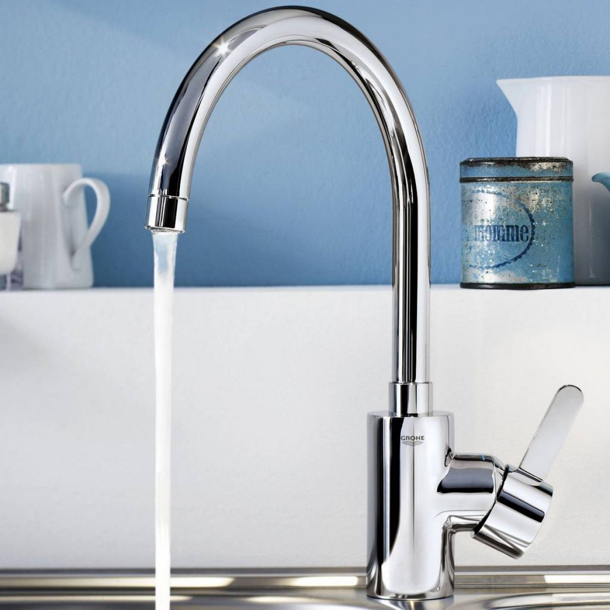 Grohe Eurosmart Cosmopolitan Single Lever Kitchen Tap : UK Bathrooms