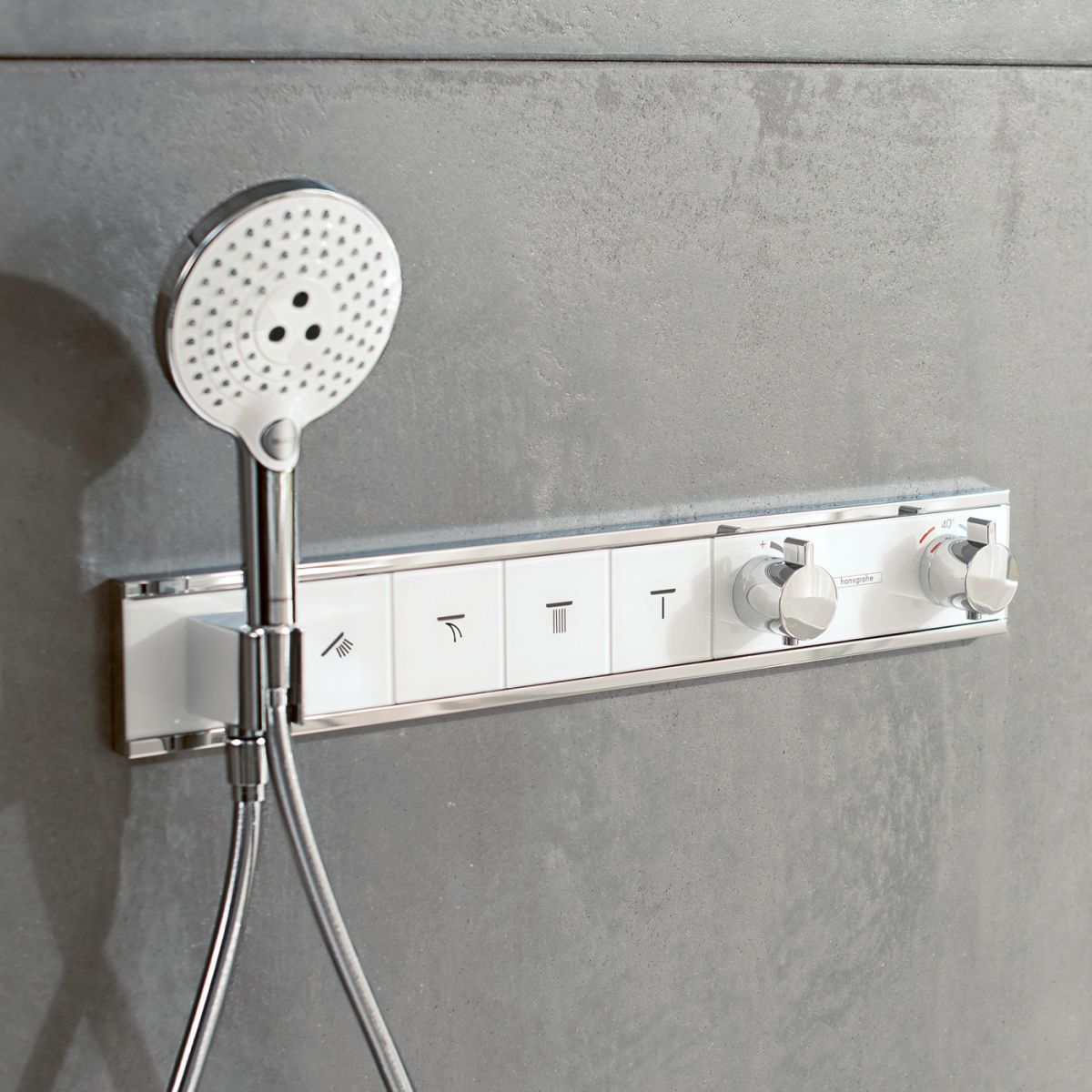 Hansgrohe RainSelect Concealed Valve for 4 Outlets : UK Bathrooms