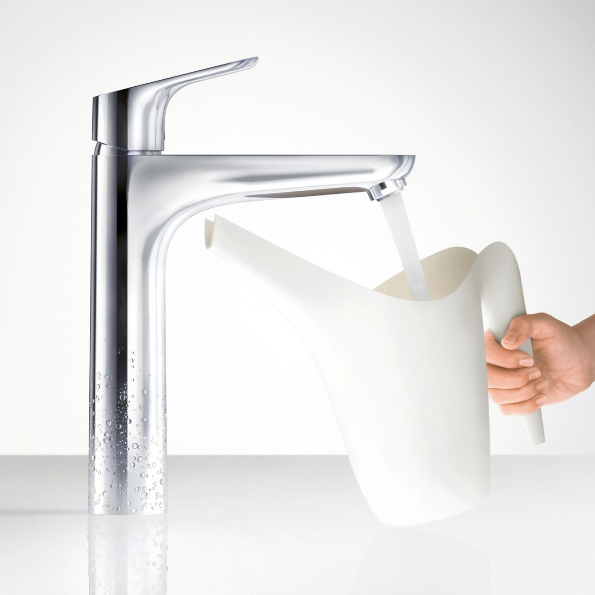 Hansgrohe Focus 190 Tall Basin Mixer Tap : UK Bathrooms