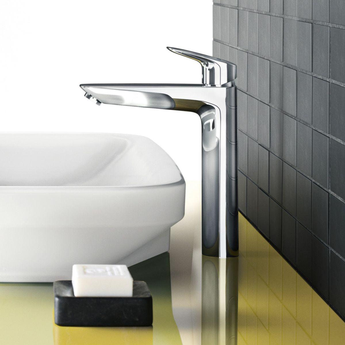 Hansgrohe Logis 190 Tall Basin Mixer Tap : UK Bathrooms