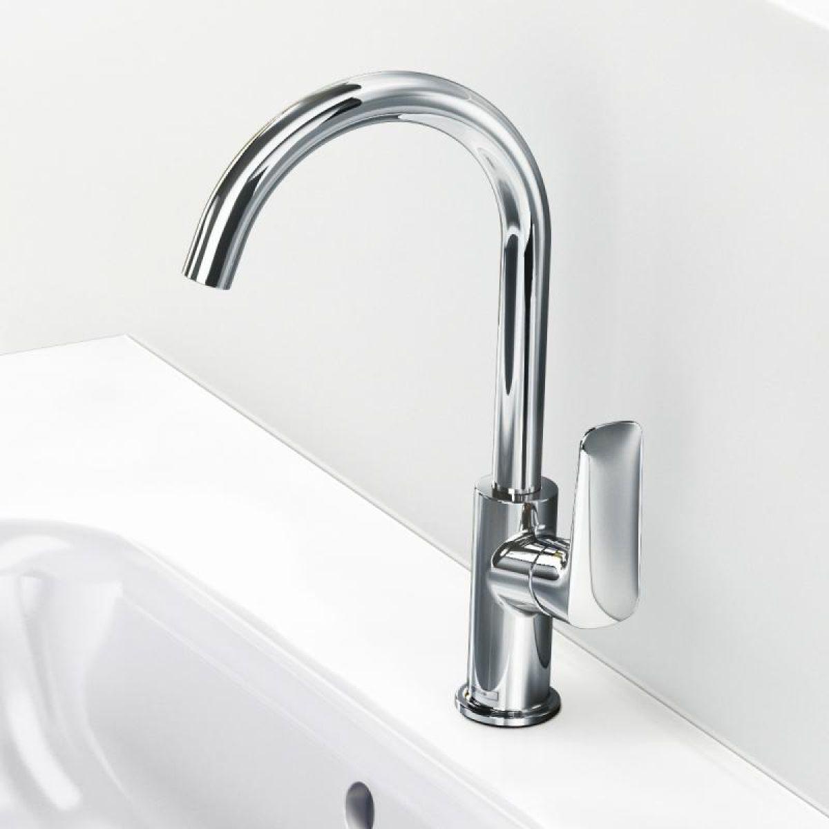 hansgrohe logis 210 swivel basin mixer tap uk bathrooms. Black Bedroom Furniture Sets. Home Design Ideas
