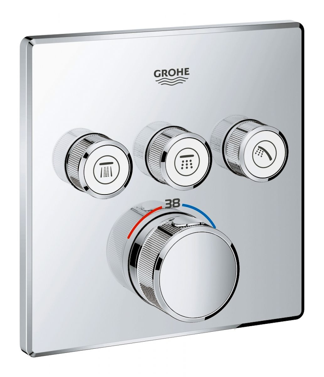 grohe grohtherm smartcontrol perfect shower system with. Black Bedroom Furniture Sets. Home Design Ideas