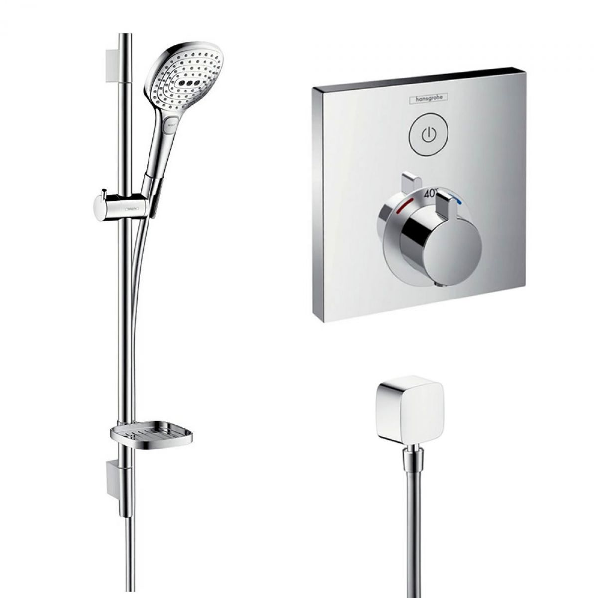 hansgrohe raindance select system 2 shower kit uk bathrooms. Black Bedroom Furniture Sets. Home Design Ideas