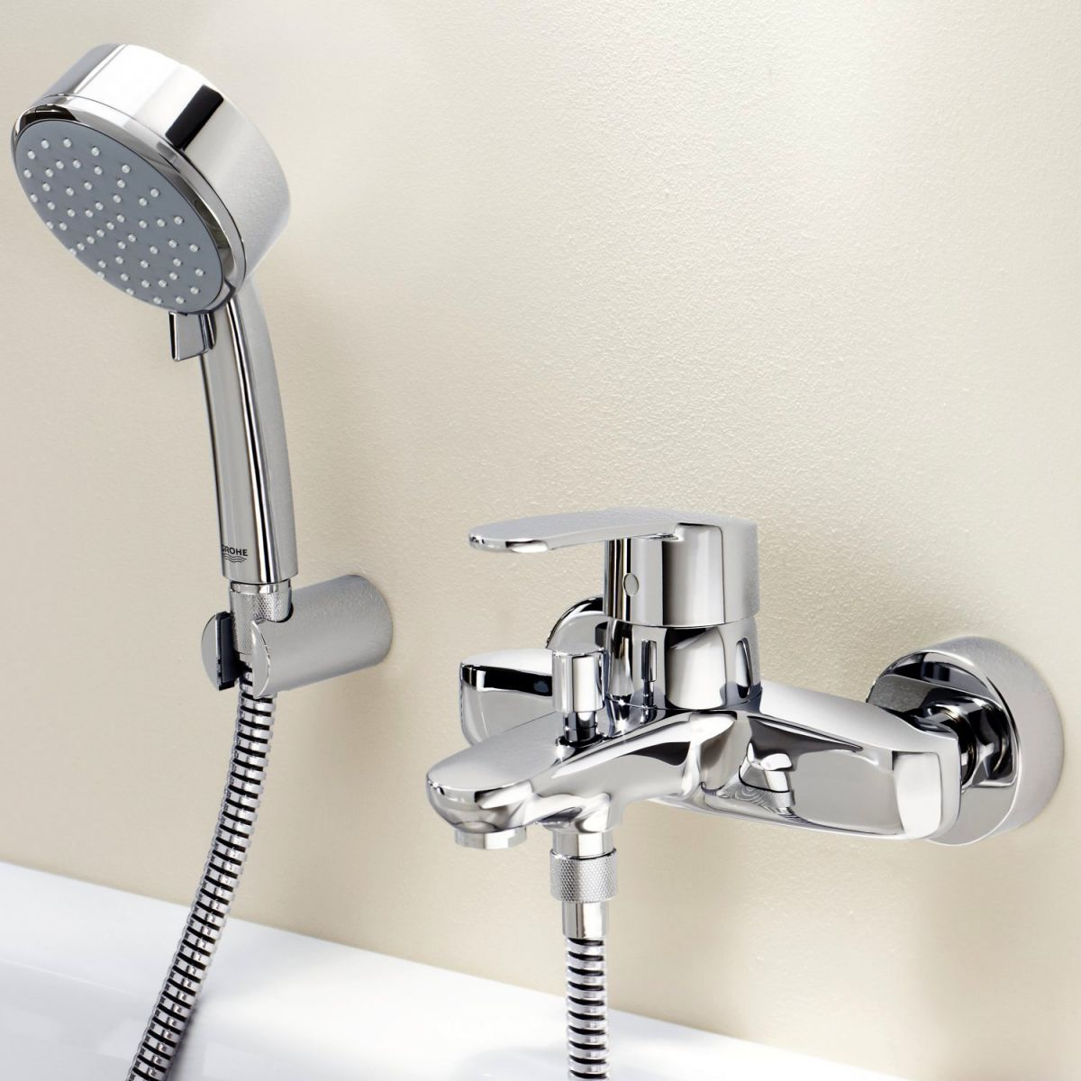 Grohe Eurostyle Cosmopolitan Wall Mounted Bath Shower Mixer : UK ...