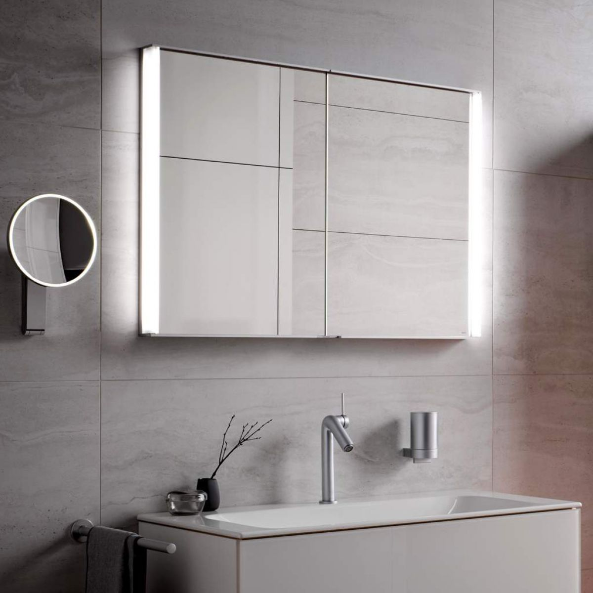 Terrific Keuco Royal Match Semi Recessed Mirror Cabinets Interior Design Ideas Gentotryabchikinfo