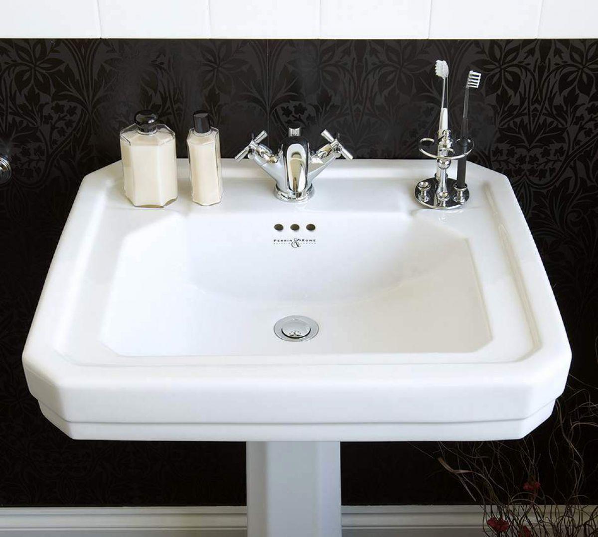 Perrin and Rowe Deco Bathroom Basin : UK Bathrooms