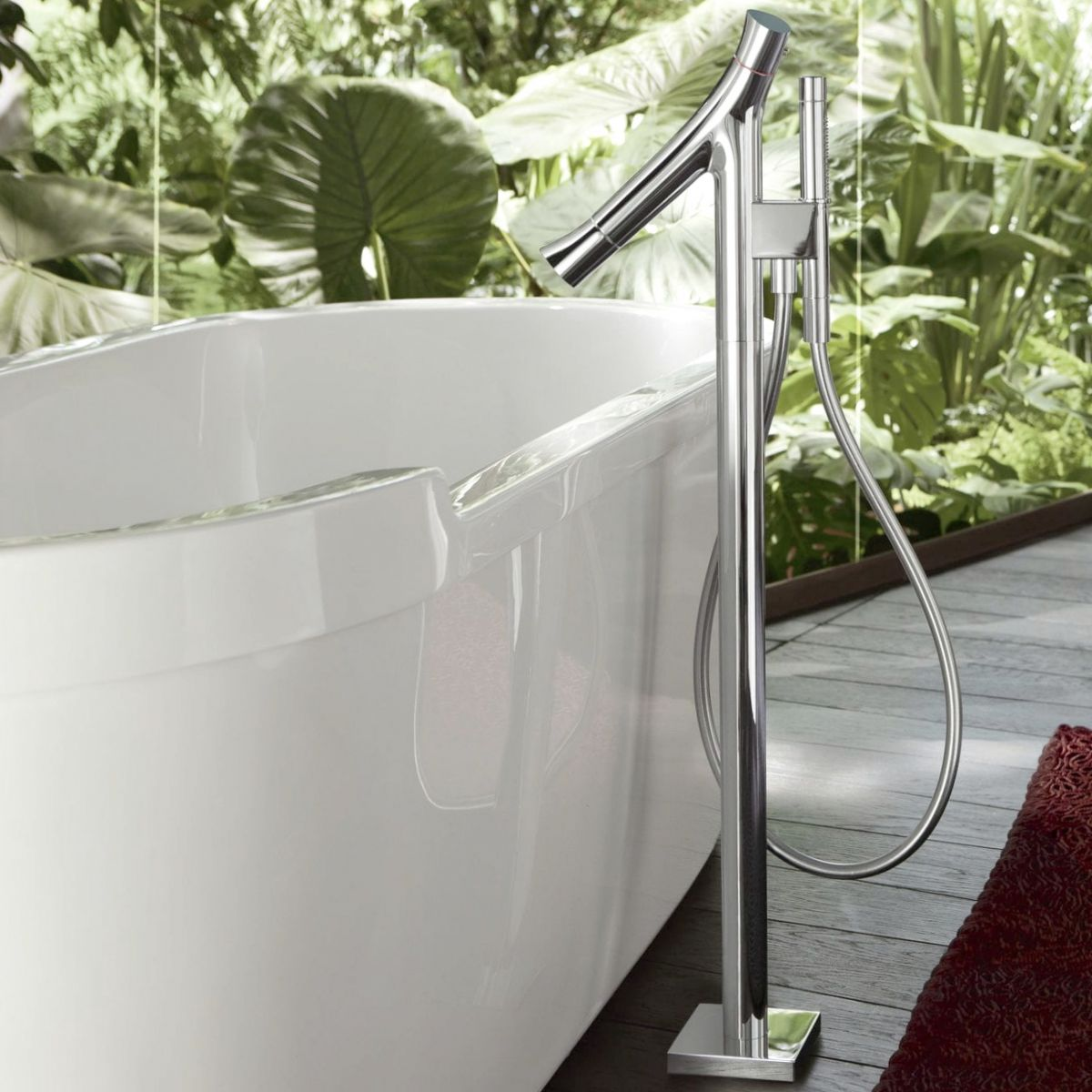 AXOR Starck Organic Floor Standing Bath Shower Mixer : UK Bathrooms