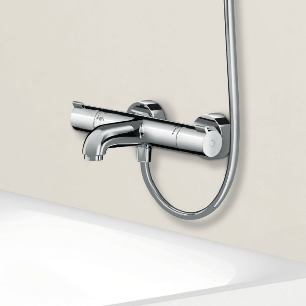 hansgrohe ecostat comfort exposed bath shower mixer uk. Black Bedroom Furniture Sets. Home Design Ideas