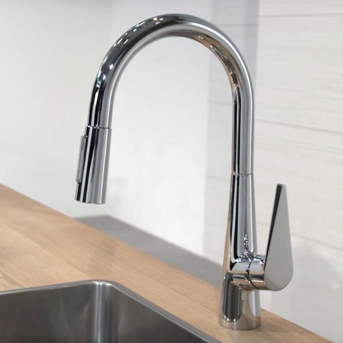 Hansgrohe Talis S 200 Kitchen Mixer Tap, with Pull-out Spray : UK ...