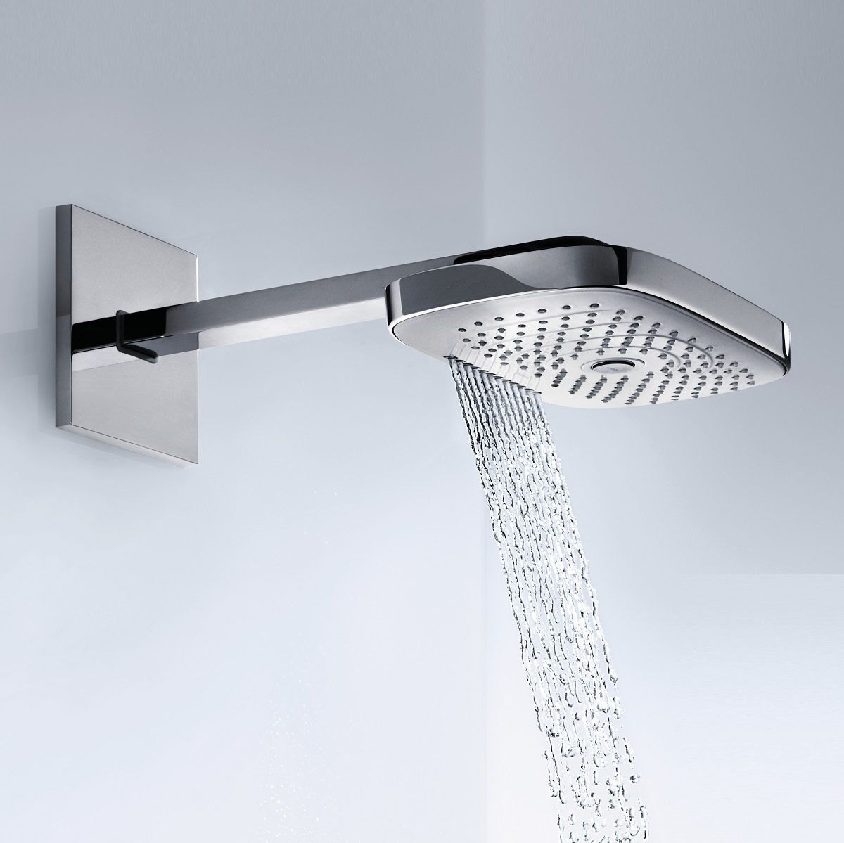 hansgrohe raindance select e 300 3jet shower head with arm. Black Bedroom Furniture Sets. Home Design Ideas