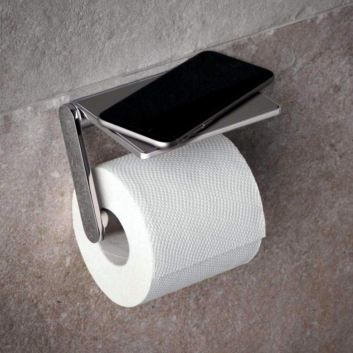 keuco plan toilet paper holder with shelf uk bathrooms. Black Bedroom Furniture Sets. Home Design Ideas