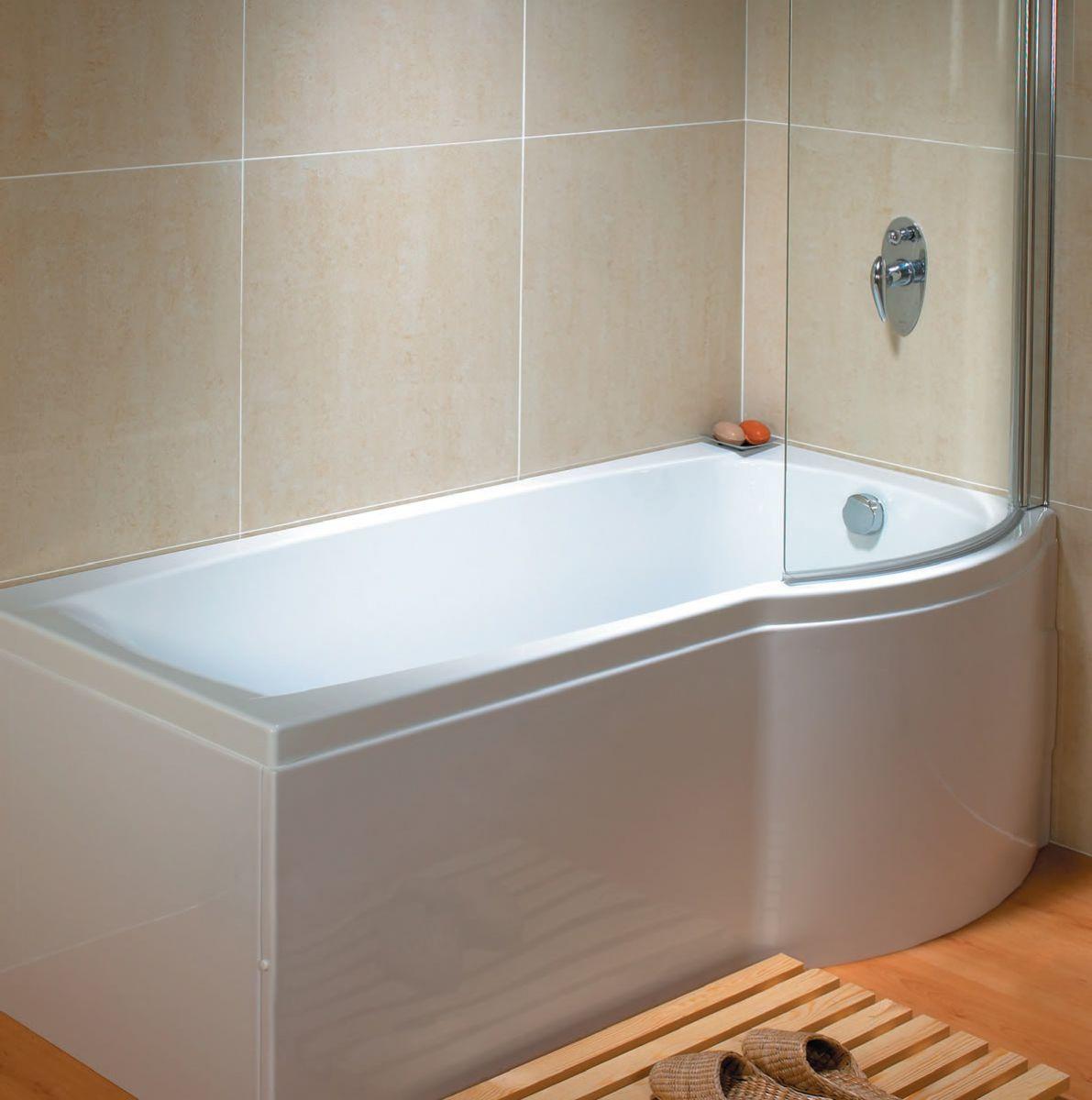 Carron Delta P Shaped Shower Bath : UK Bathrooms