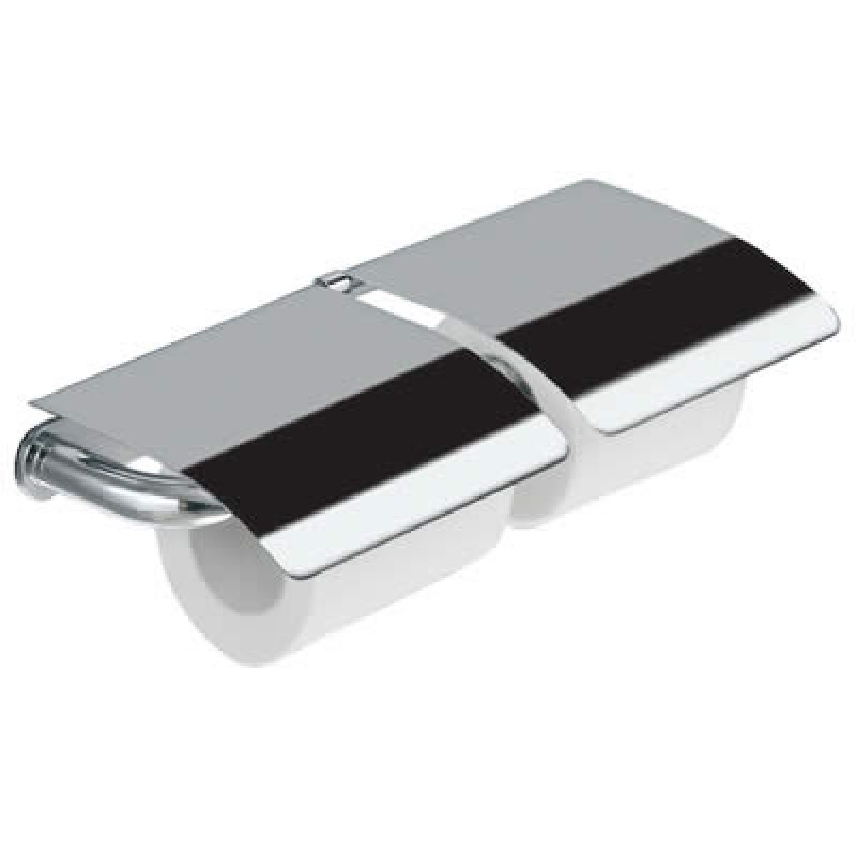 Inda hotellerie chrome double toilet roll holder with