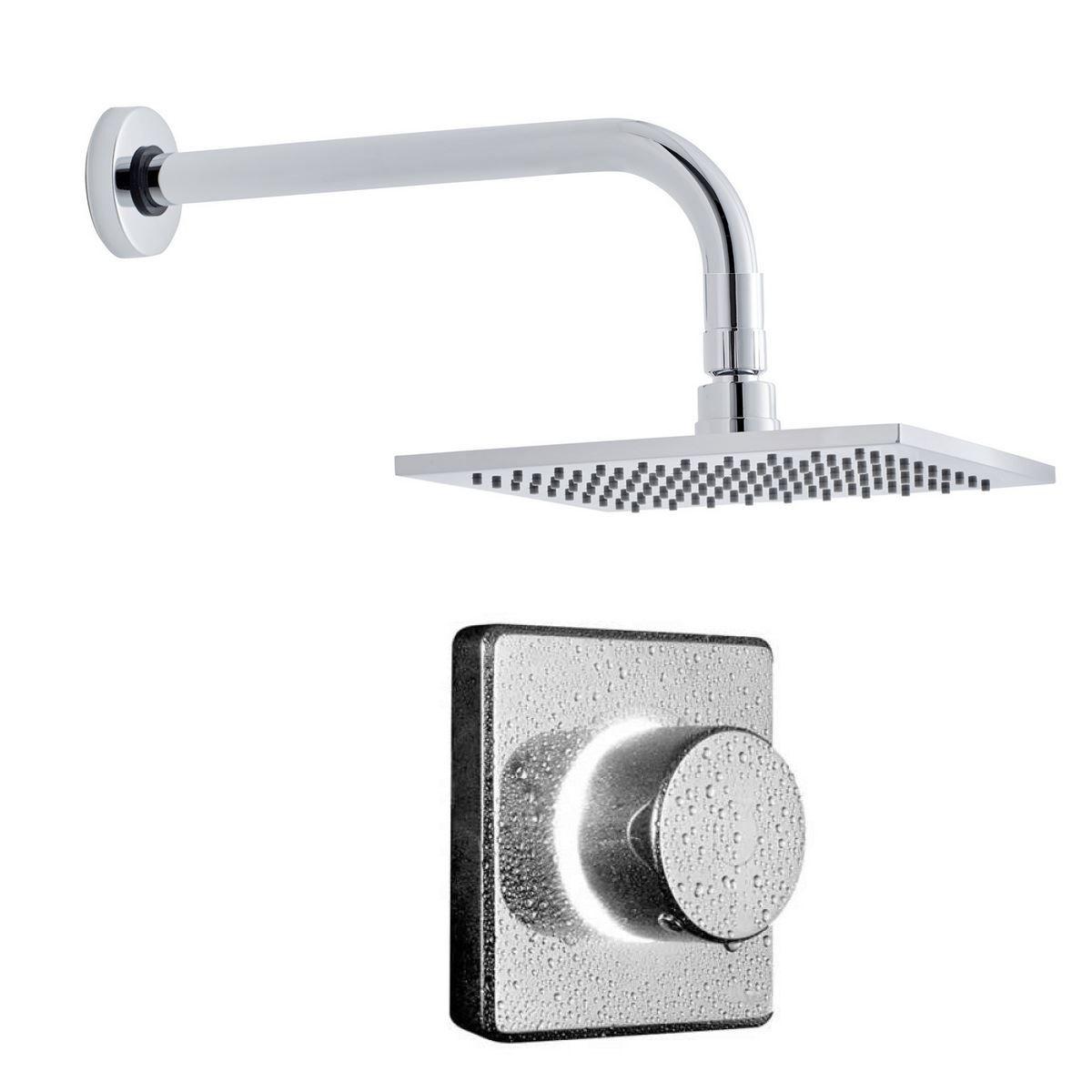 Bathroom Brands Contemporary Digital Shower with Square Head : UK ...