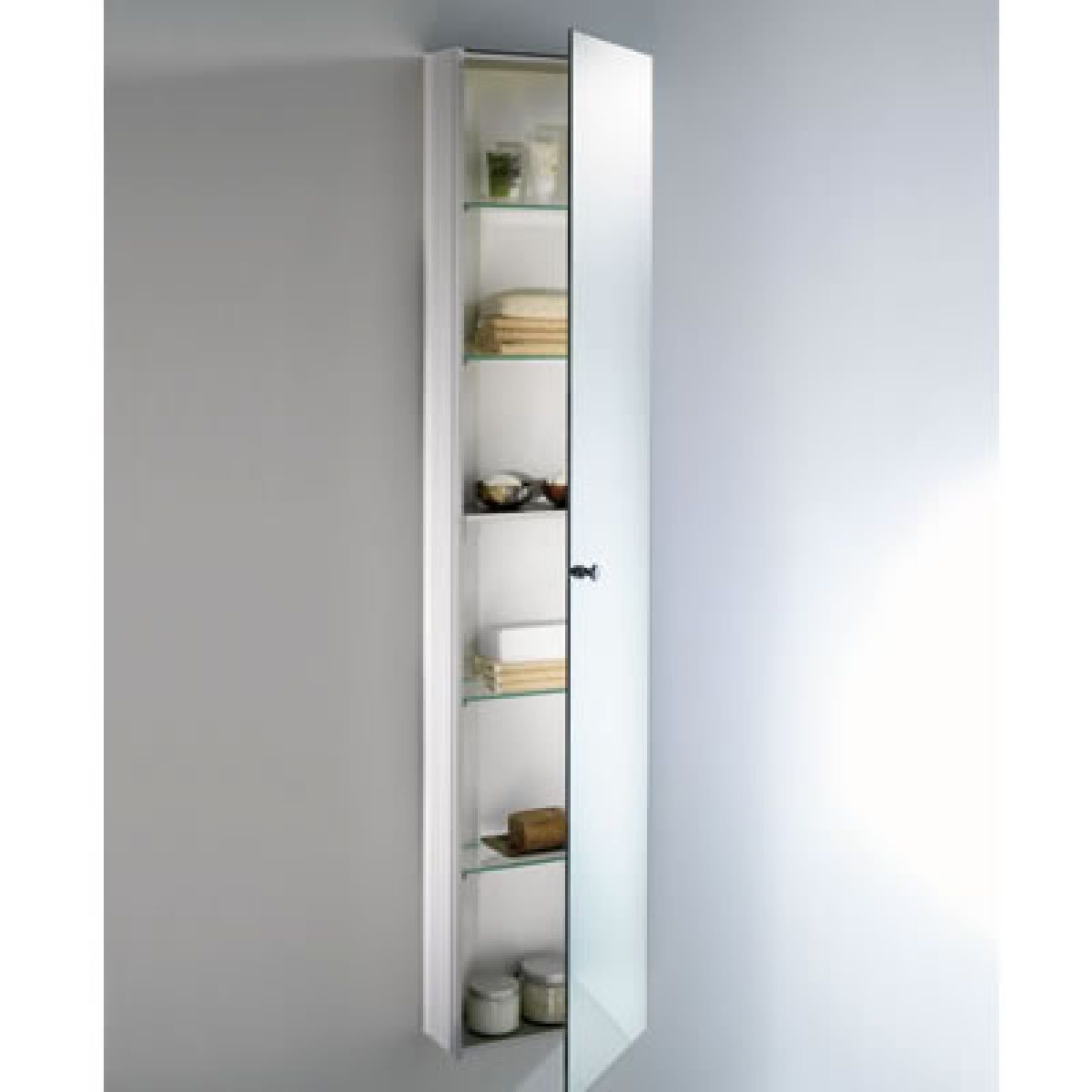 Schneider wangaline 1 door tall cabinet uk bathrooms - Tall bathroom storage cabinets with doors ...