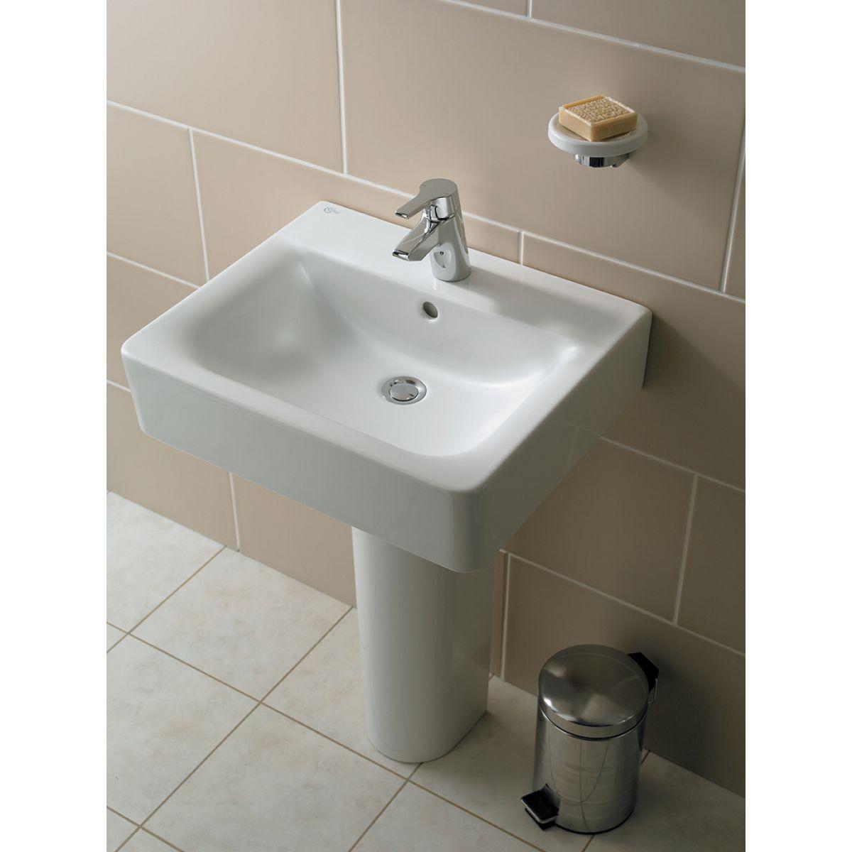 Ideal standard concept cube 50cm bathroom basin uk bathrooms for Bathroom basin