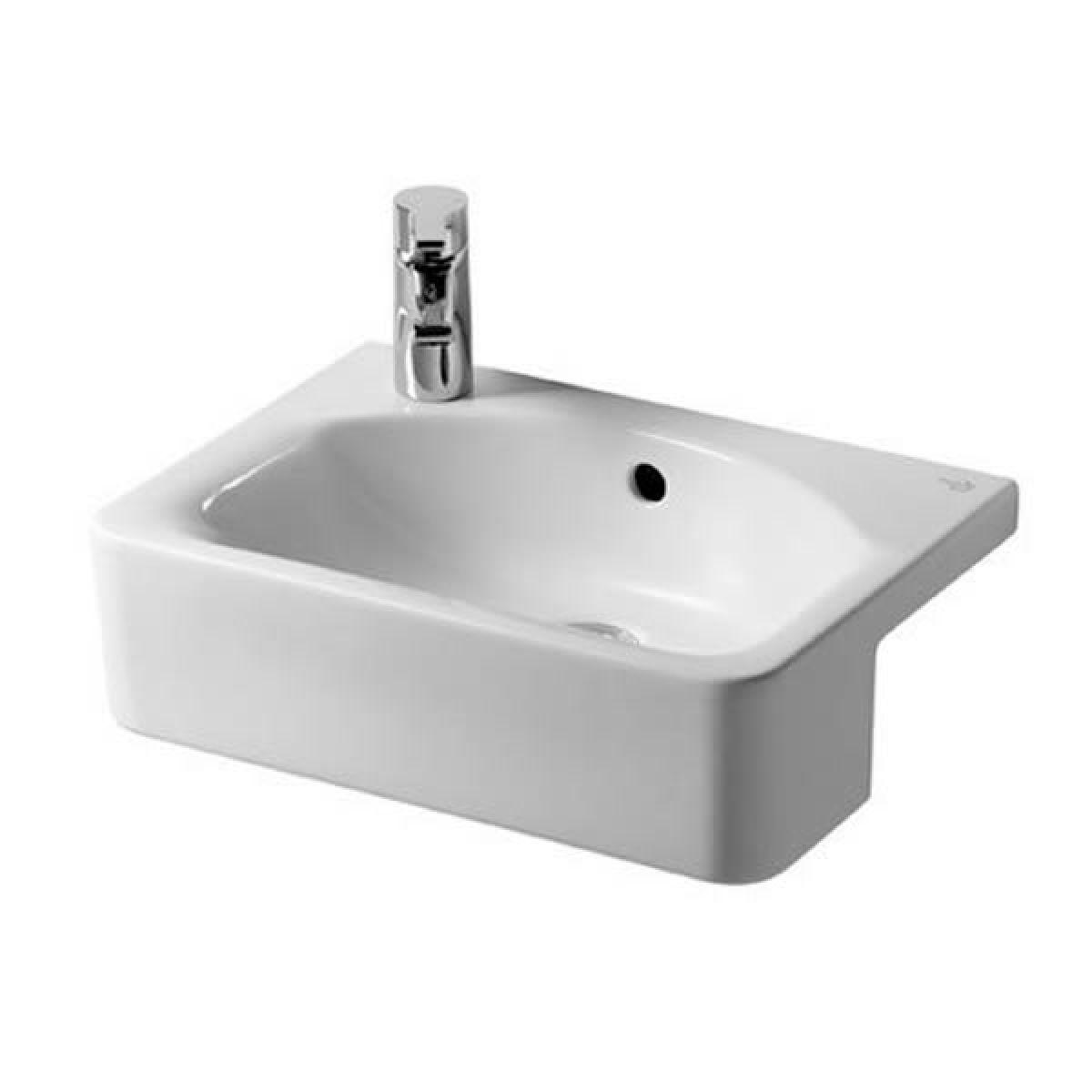ideal standard concept cube 50cm semi countertop basin uk bathrooms. Black Bedroom Furniture Sets. Home Design Ideas