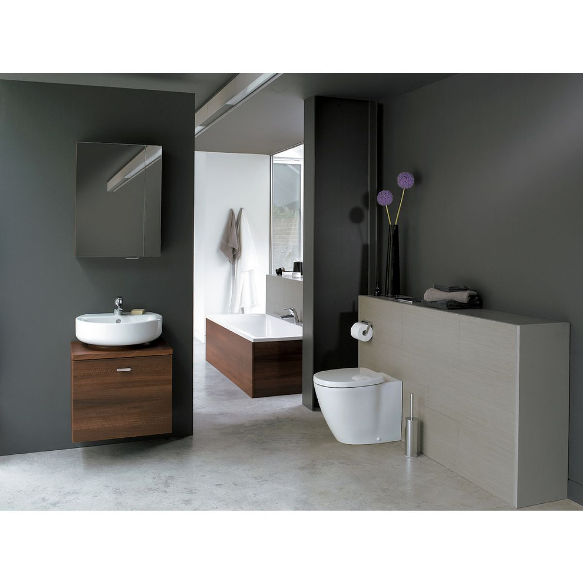 ideal standard concept back to wall pan uk bathrooms. Black Bedroom Furniture Sets. Home Design Ideas
