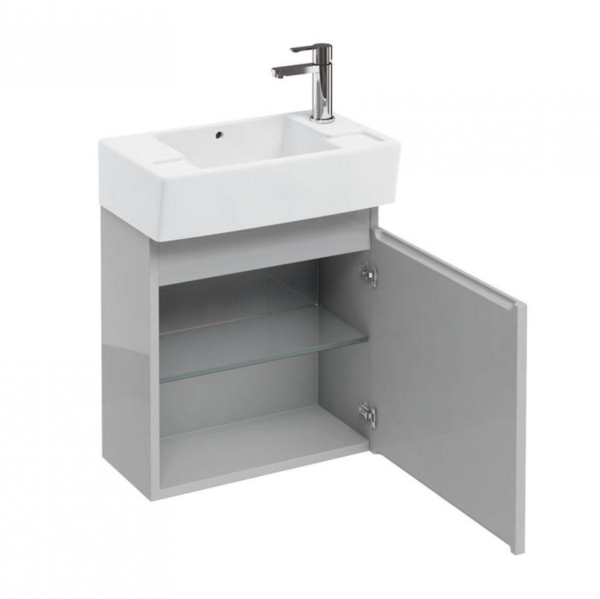 Aqua Cabinets Wall Hung Compact Cloakroom Vanity Unit
