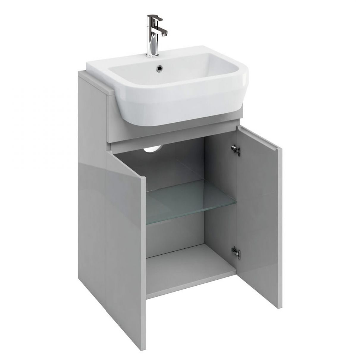 Semi Recessed Bathroom Sink Unit