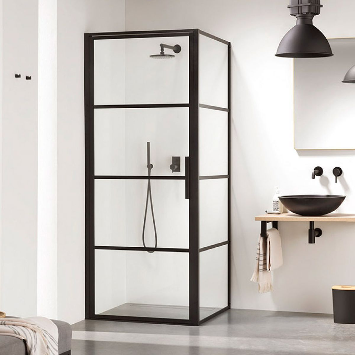 Impey Soho Pivot Door Black Shower Enclosure Uk Bathrooms