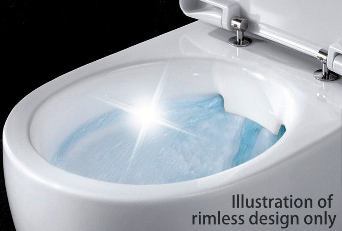 Burlington Rimless Close Coupled Toilet : UK Bathrooms