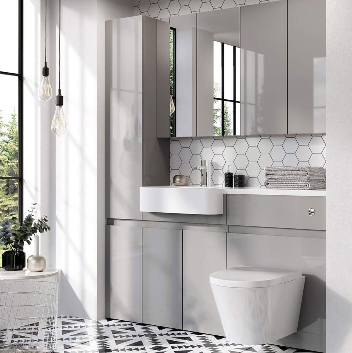 image example of fitted bathroom furniture