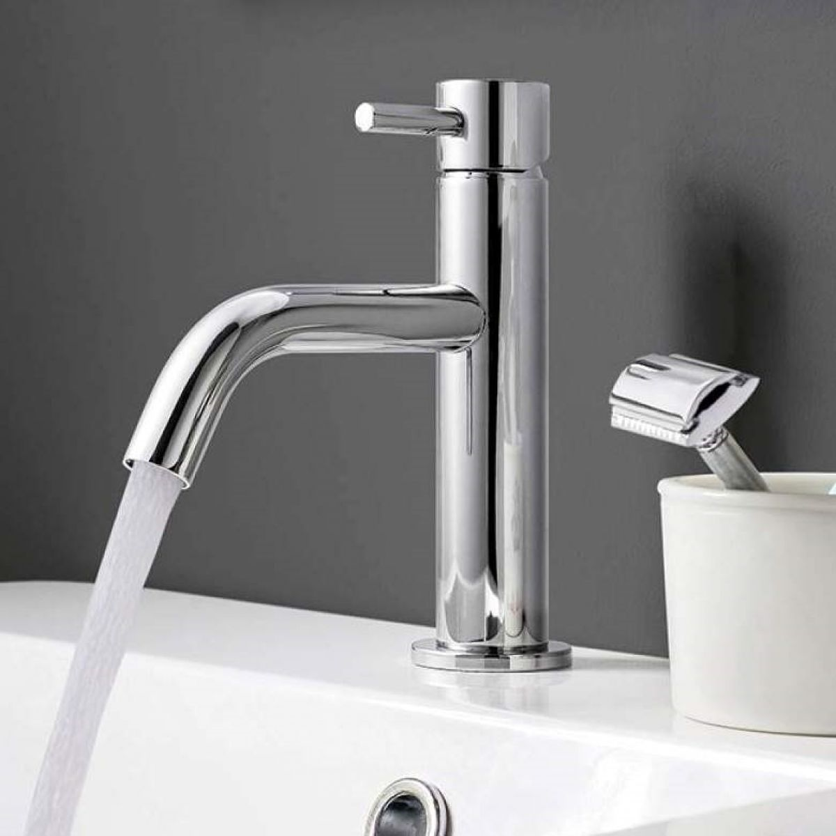 crosswater mpro chrome monobloc basin tap uk bathrooms. Black Bedroom Furniture Sets. Home Design Ideas
