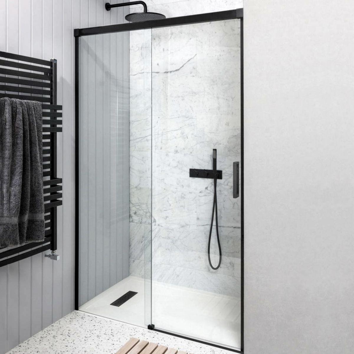 Crosswater Mpro Single Slider Shower Door Uk Bathrooms