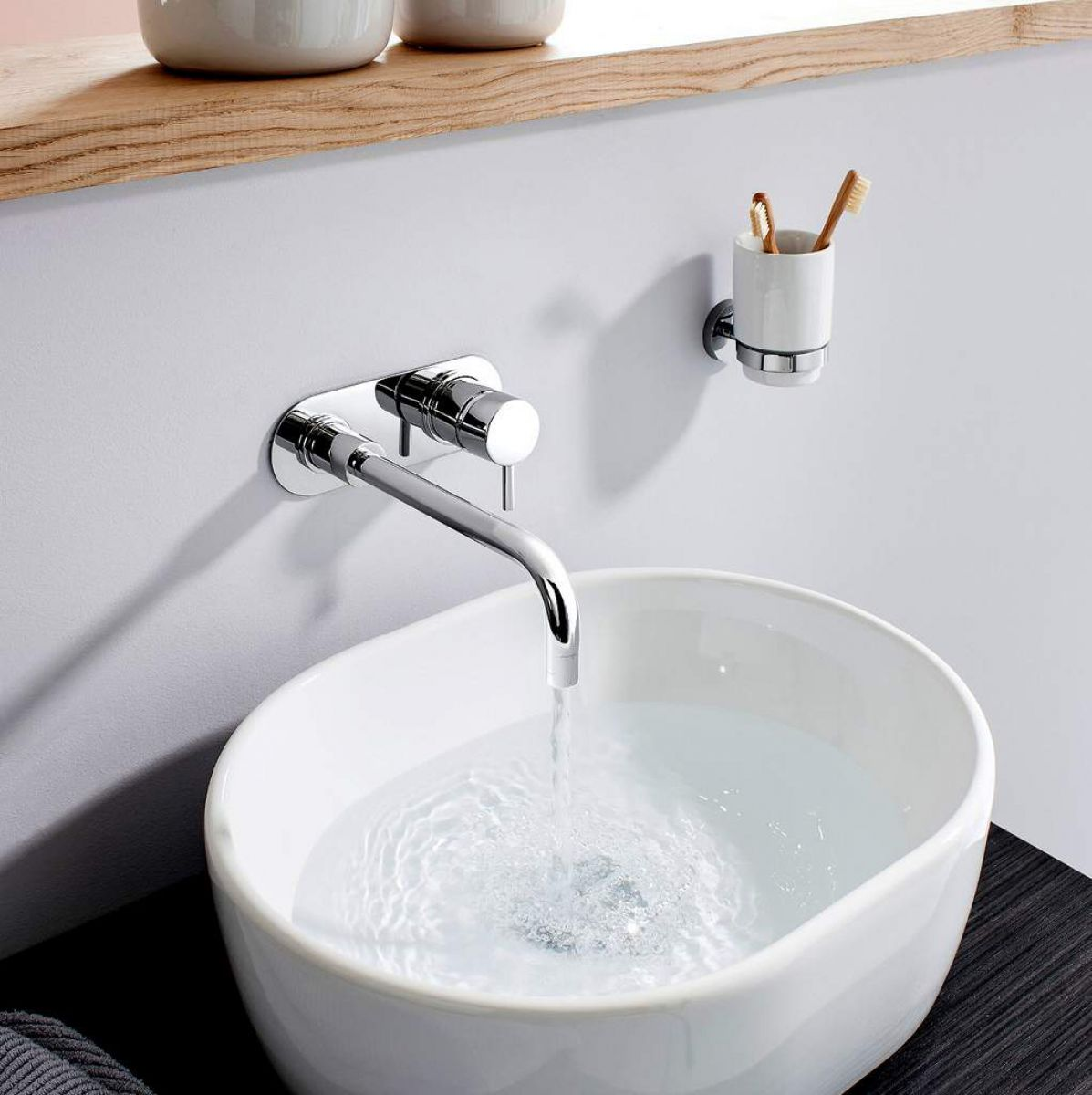 Crosswater Central Wall Mounted Basin Mixer Tap Uk Bathrooms