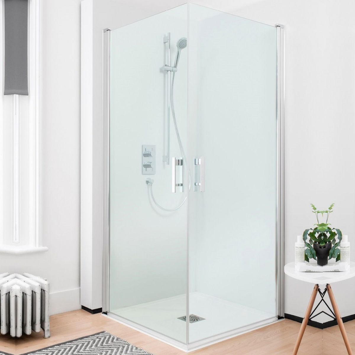 Simpsons Click Easy Access Double Hinged Shower Door Uk Bathrooms
