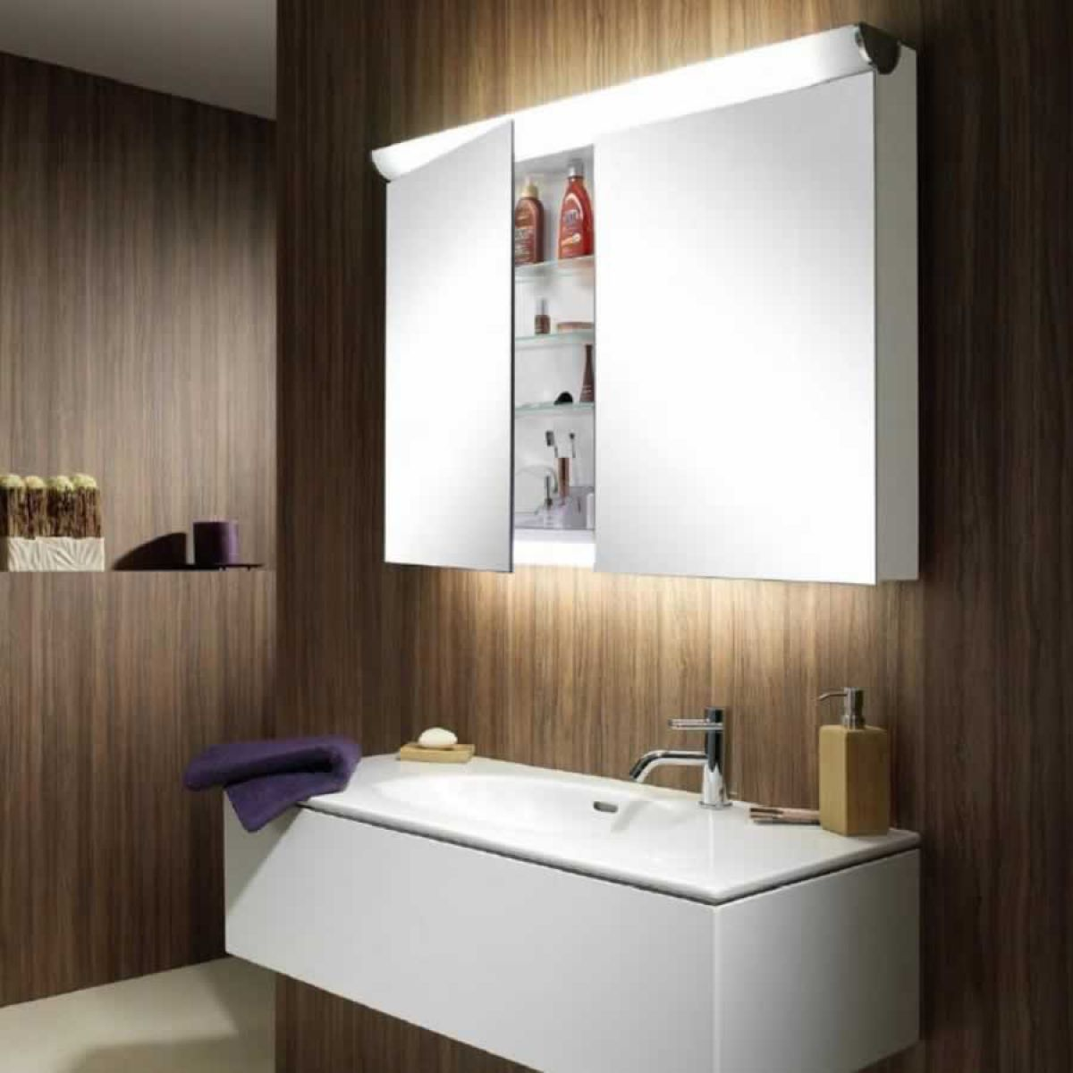 Schneider Faceline LED Mirror Cabinets : UK Bathrooms
