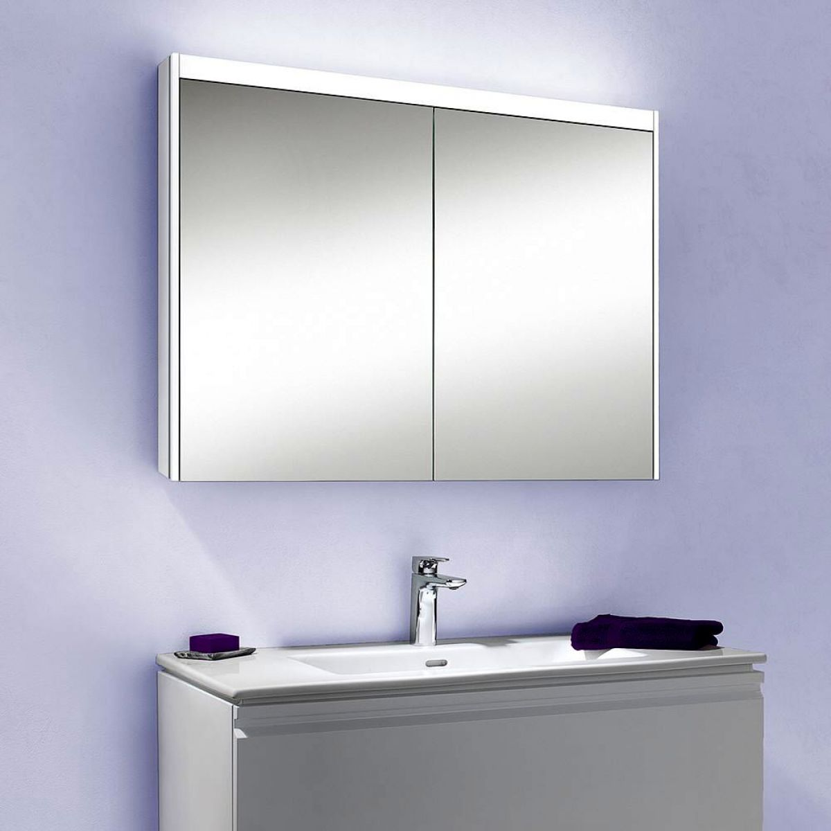 Schneider O-LINE LED Mirror Cabinets 12cms : UK Bathrooms