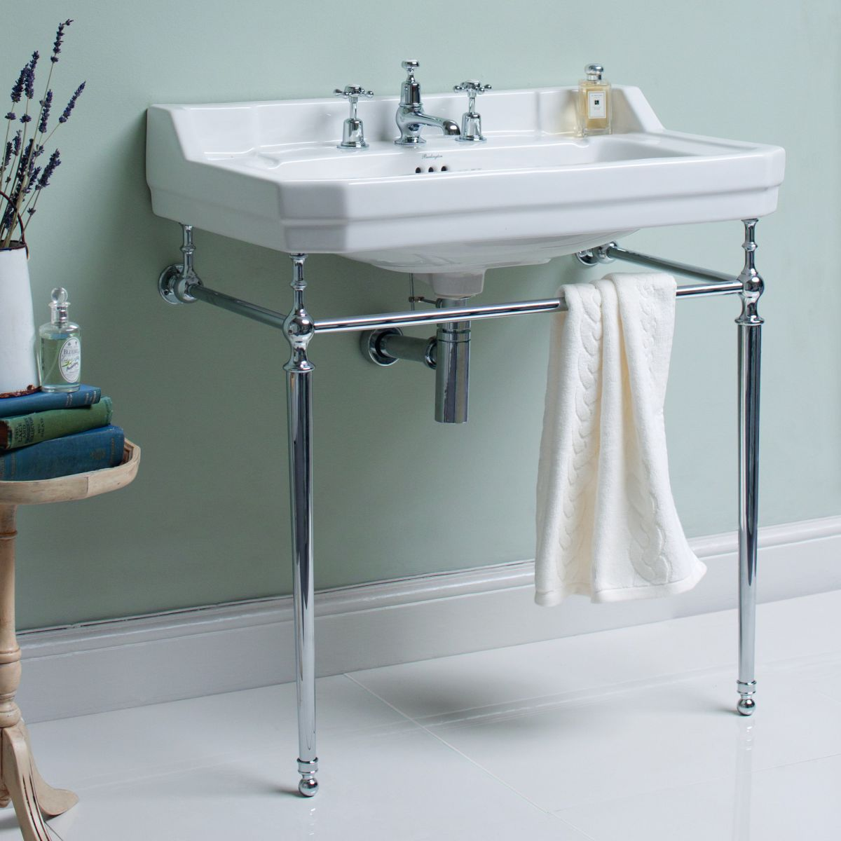 Burlington Edwardian 80cm Large Basin Wash Stand Uk