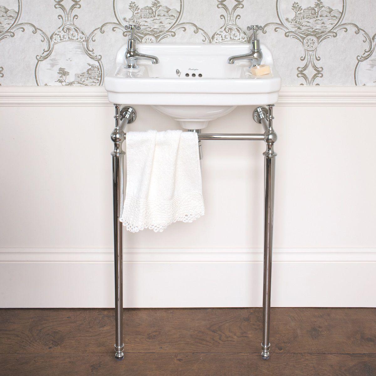 Burlington Edwardian 51cm Cloakroom Basin Wash Stand - T21ACHR