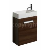 Product image for Bauhaus Design Walnut 40 Wall Hung Single Door Unit & Basin