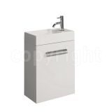 Product image for Bauhaus Design White 40 Wall Hung Single Door Unit & Basin
