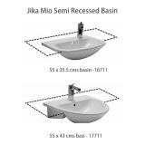 Product image for Jika Mio Semi Recessed Basin